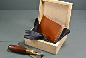 Cotswold Shell Cordovan Leather Wallet Art Deco