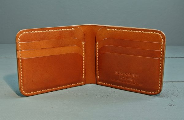 made in England leather wallet