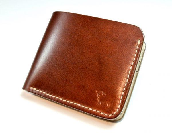 shinki hikaku shell cordovan leather wallet