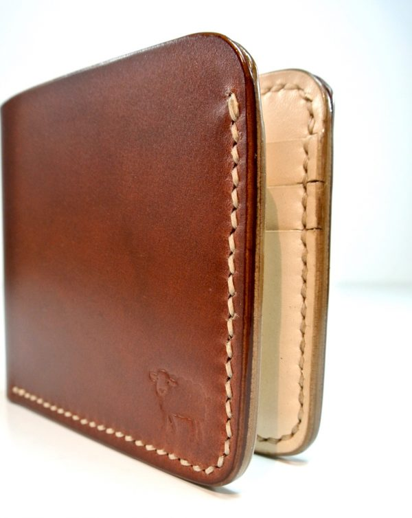 handmade and hand stitched wallet