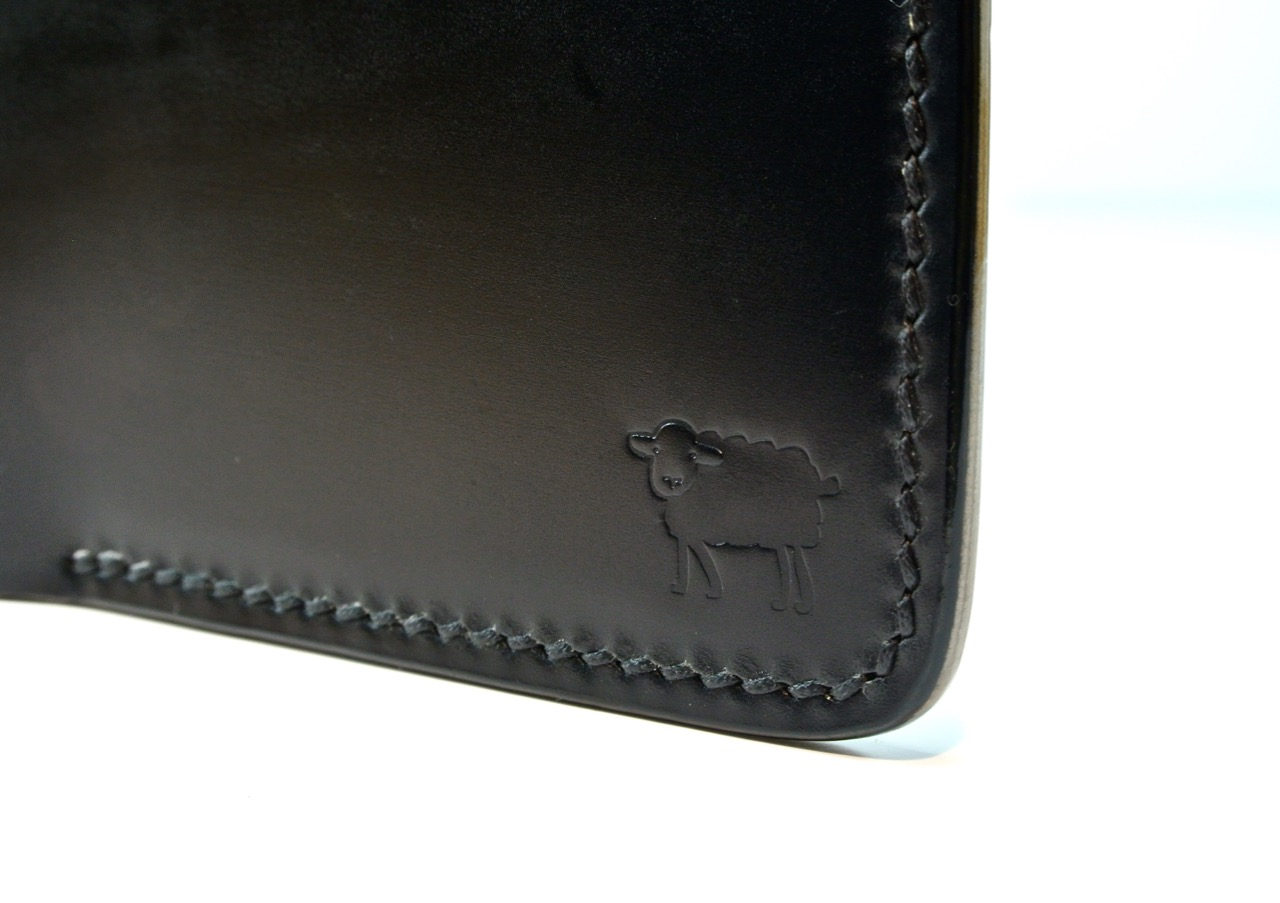 a7a1affb4798 Cotswold Shell Cordovan Leather Bumble Bee Wallet - Black Sheep Leather