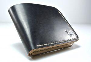 Shinki Hikaku Shell Cordovan Wallet Black & White