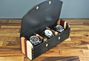 Cotswold Leather & Wood Watch Box